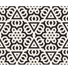 Seamless Black and White Rounded Star vector image vector image