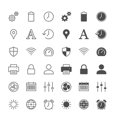 setting icons vector image