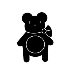 teddy bear icon sign o vector image