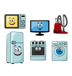 Cartoon household appliances set vector image