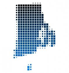 map of Rhode island vector image vector image