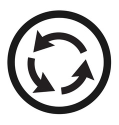 roundabout circulation sign line icon vector image