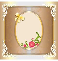 Vintage paper frame with floral ornament vector image