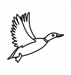 Wild duck icon outline style vector image