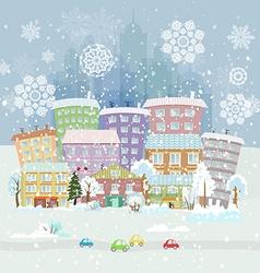 winter city life vector image vector image