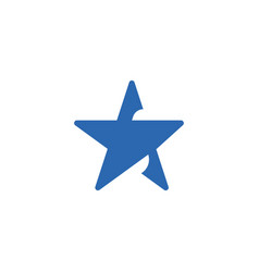 abstract star icon design template isolated vector image