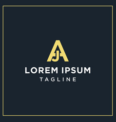 Aj monogram logo vector