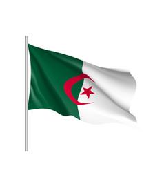 algeria realistic flag vector image