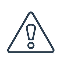 Attention icon on white background vector