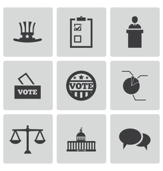 Black electiion icons set vector