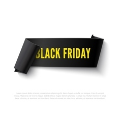 Black Friday curved paper banner vector