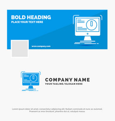 blue business logo template for alert antivirus vector image
