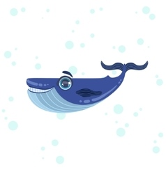 Blue Whale Drawing vector image