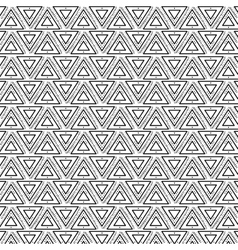 Boho style black and white background design vector image