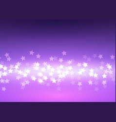 Bokeh light stars on lilac background vector