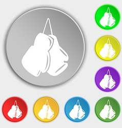 Boxing gloves icon sign Symbol on eight flat vector