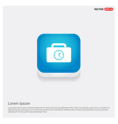 briefcase with clock icon vector image