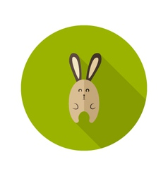 Bunny Flat Icon over Green vector
