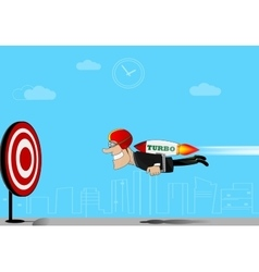 businessman flying to target vector image