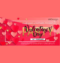 Card for happy valentines day party vector