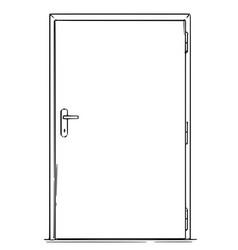 Cartoon closed modern door vector