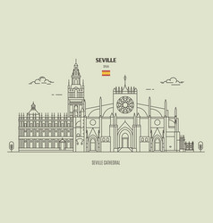 cathedral seville spain vector image