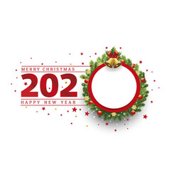 christmas background 2020 new year card vector image