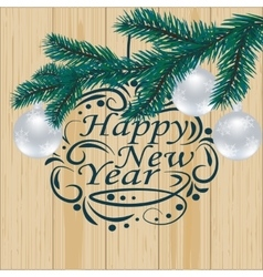 Christmas New Year festive labels for postcards vector image