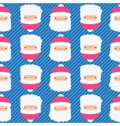 Christmas Santa Claus seamless pattern background vector image