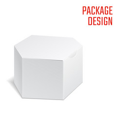 Clear craft box vector