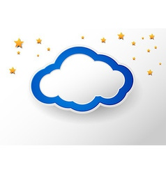 Cloud with a place for message vector image