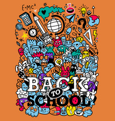 Concept education school background with hand vector