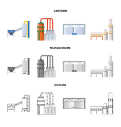 Design production and structure sign vector