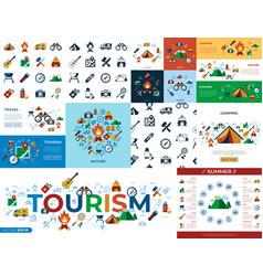 digital summer camping sport vector image