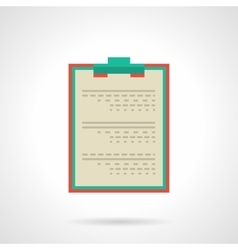 Doctor clipboard flat color icon vector image