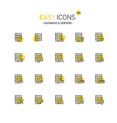 Easy icons 23d database vector