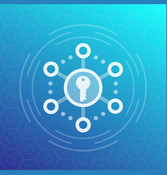 Encryption secure access icon vector
