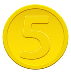 Five coin vector image