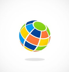 globe colorful abstract logo vector image