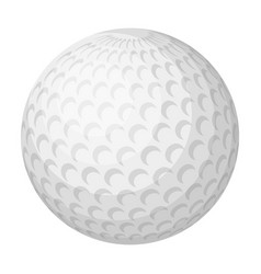 Golf ballgolf club single icon in monochrome vector