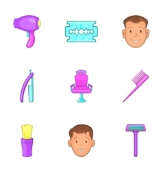 Hairstyle icons set cartoon style vector image