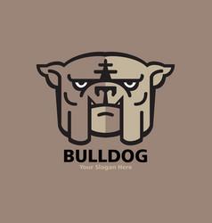 head bulldog logo design vector image