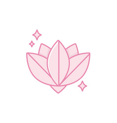Isolated lotus flower icon fill design vector