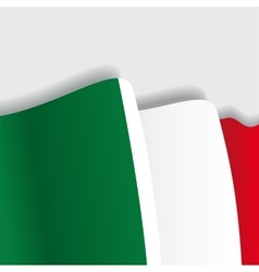Italian waving Flag vector