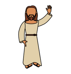 jesus christ catholic blessed vector image