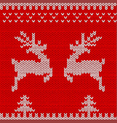 knitted sweater design with deers vector image