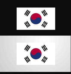 Korea south flag banner design vector