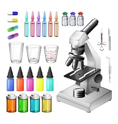 Medical equipment and containers vector