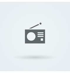 Minimalistic icons with a vintage radio vector image