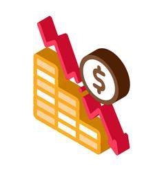 Monetary decline isometric icon vector